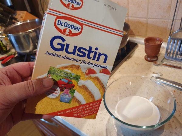 Smântână de gătit și amidon din porumb (Gustin)